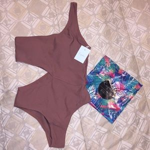 CUPSHE Bronze One Piece w/ Cut Outs - Small - NWT